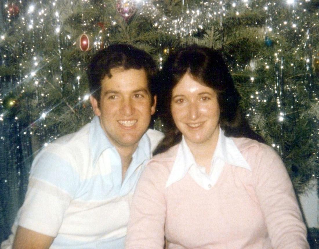 Jeneen & I - Christmas 1979